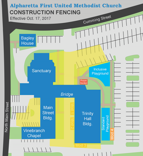 Construction Fencing Map, effective 10/17/17